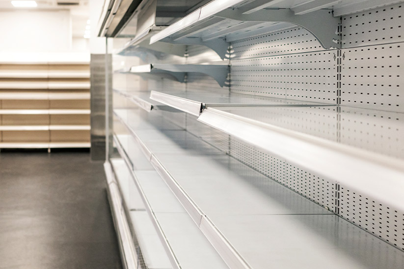 Empty Shelves at Big Box Retailers
