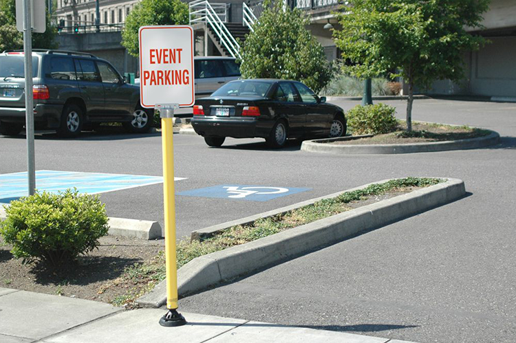 Parking zone event parking